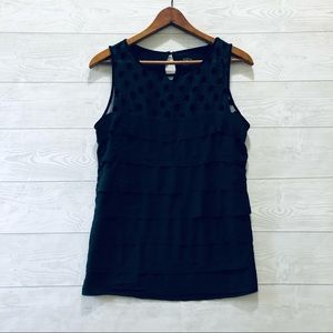 LOFT Black Sequent Top